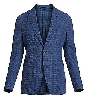 Ermenegildo Zegna Men's Seersucker Single-Breasted Jacket