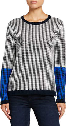 LISA TODD In Stitches Colorblock Long-Sleeve Sweater