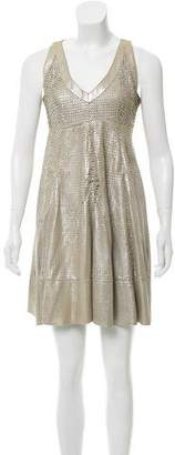 Drome Metallic Mini Dress