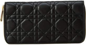 Christian Dior Leather Zip Around Wallet
