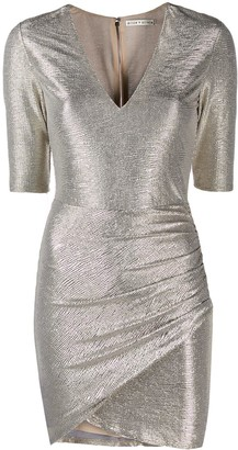 Alice + Olivia Alice+Olivia textured metallic dress