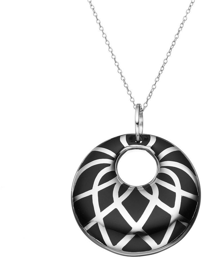 Sterling Silver Circle Pendant Necklace