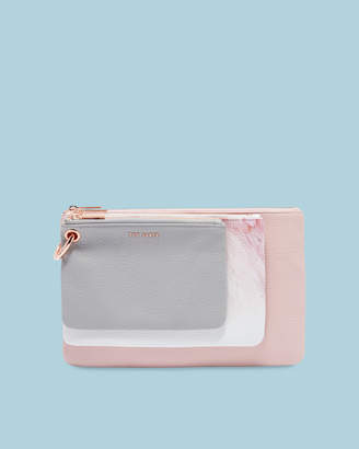 Ted Baker HALION Angel Falls leather triple pouch