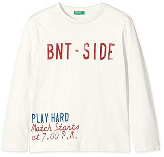 Benetton Boy's T-Shirt L/S,(Manufacturer size: Medium)