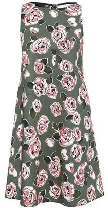 Love Moschino Flared Floral-print Stretch-cotton Mini Dress