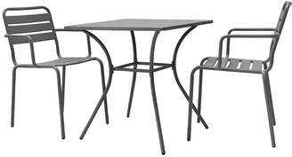 Garden Trading - Dean Street Set of 2 Chairs & Table - Charcoal