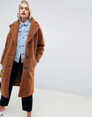 Asos Design DESIGN teddy coat
