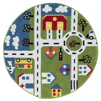 Zoomie Kids Gulf City Green/Blue Area Rug Rug