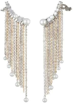 Carolee Grace Asymmetrical Chain Fringe Crawler Earrings