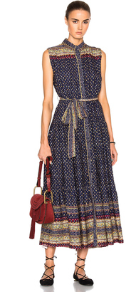 Sea Belted Midnight Border Dress $485 thestylecure.com