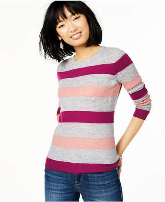 Charter Club Striped Cashmere Sweater