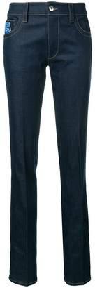 Prada logo patch slim jeans