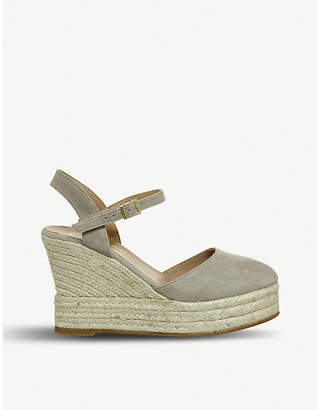 Office Hero leather espadrille wedges