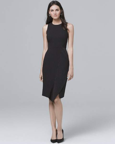 Whbm Pinstripe Sheath Dress