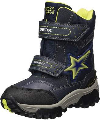 Geox Boy's J LT Himalaya B ABX A Snow Boots, Black/Red