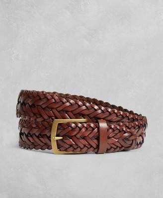 Brooks Brothers Golden Fleece Braided Leather Belt