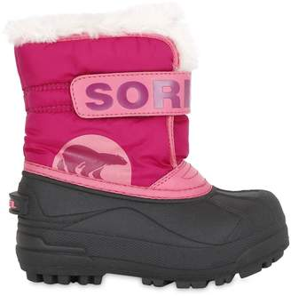 Sorel Logo Nylon Canvas Snow Boots