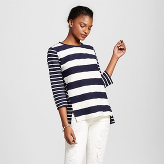 Merona Women's Mixed Stripe Structured Top $22.99 thestylecure.com