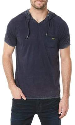 Buffalo David Bitton Kubell Short-Sleeve Cotton Hoodie