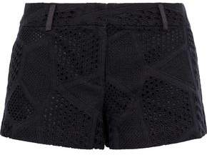 Milly Dickies Broderie Anglaise Cotton Shorts