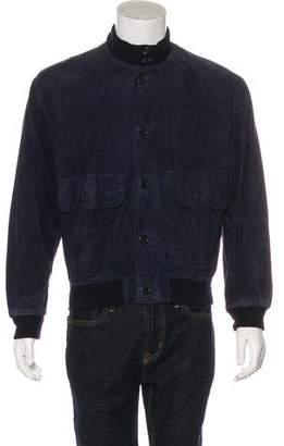 Giorgio Armani Lambskin Bomber Jacket