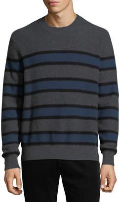 Vince Men's Crewneck Striped Cashmere Sweater