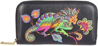 Etro Printed Logo Zip Around Wallet
