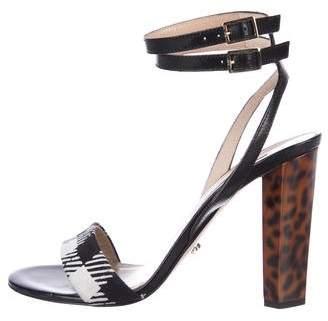 Diane von Furstenberg Leather High-Heel Sandals