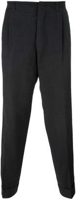 Romeo Gigli Pre-Owned pinstripe tapered trousers