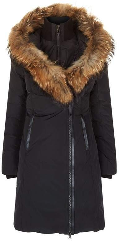 Kay Classic Down Fur Collar Coat