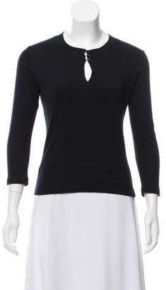 Christian Dior Embroidered Jersey Top