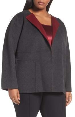 Lafayette 148 New York Oriana Wool & Cashmere Reversible Jacket (Plus Size)