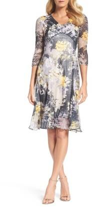 Women's Komarov Print Chiffon A-Line Dress $318 thestylecure.com