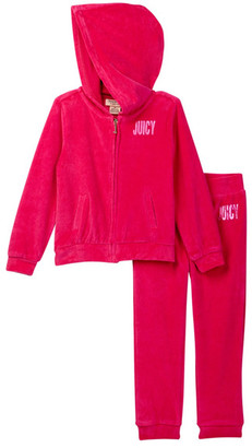 Juicy Couture Velour Hoodie & Pant Set (Toddler Girls) $69.50 thestylecure.com