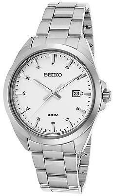SeikoSeiko SUR205P1 Men's Classic Stainless Steel White Dial