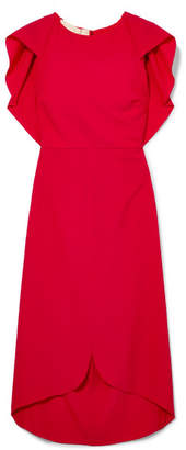 Antonio Berardi Draped Wool-blend Dress - Red