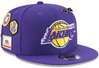 New Era Boys' Los Angeles Lakers On-Court Collection 9FIFTY Snapback Cap