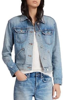 AllSaints Star Distressed Denim Jacket
