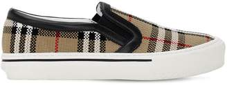 Burberry 20mm Delaware Woven Cotton Sneakers