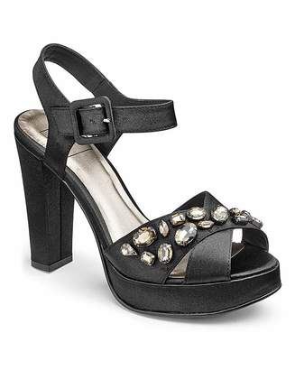 194bff26a3af7 Sole Diva Jewelled Platforms E Fit