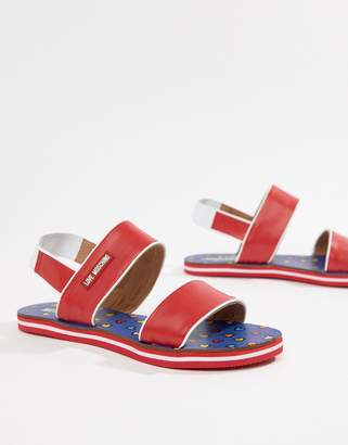 Love Moschino Color Block Sandal