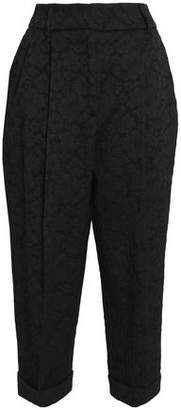 Dolce & Gabbana Cropped Jacquard Tapered Pants