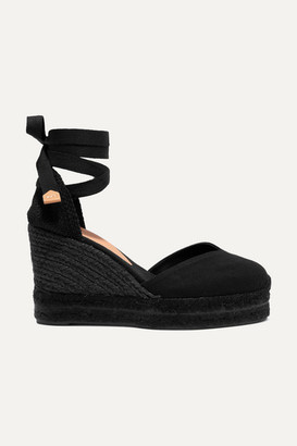 Castaner Chiara 80 Canvas Wedge Espadrilles - Black