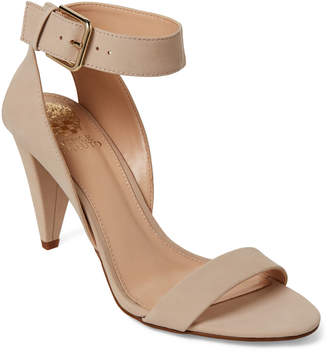 Vince Camuto Nude Caitriona Ankle Strap Nubuck Sandals