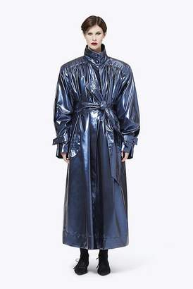 Marc Jacobs Vinyl Funnel-Neck Trench Coat