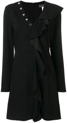 Sportmax Code Hudson stud and frill trim mini dress