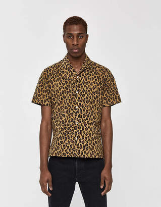 Gitman Brothers GV x Need Supply Co. Leopard/Camo Mash Up SS Camp Collar Shirt