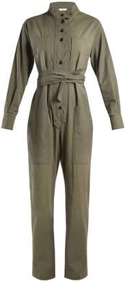 Etoile Isabel Marant Lucia tie-waist cotton-blend jumpsuit