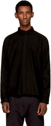 Jan-Jan Van Essche Black Classic Wool Shirt