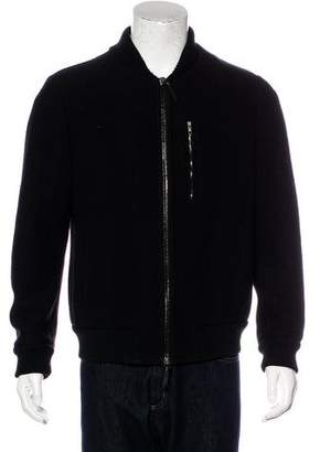 Giorgio Armani Woven Bomber Jacket